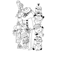 Picture of Despicable Me Coloring Page