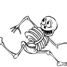 Picture of Fainthearted Skeleton Coloring Page