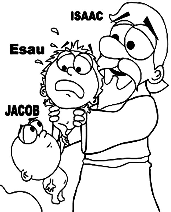 Picture of isaac and jacob and esau coloring page