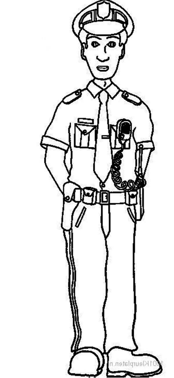 Picture Of Police Officer Coloring Page Netart