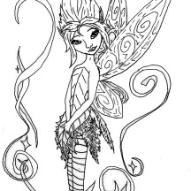 Pixie Hollow Fairies Coloring Page