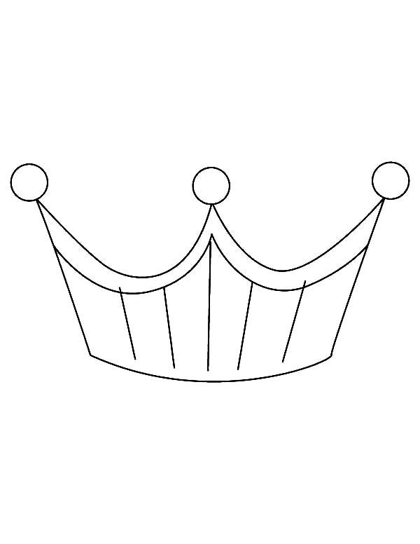 Platinium Princess Crown Coloring Page