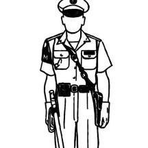 Police Officer Uniform Coloring Page