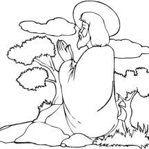 Praying is Miracles of Jesus Coloring Page