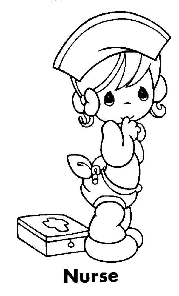precious moment nurse will take care of you coloring page