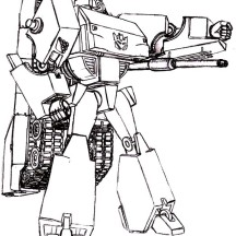 Prepare to Transform Megatron Coloring Page