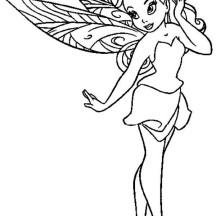 Pretty Rosetta Pixie Coloring Page
