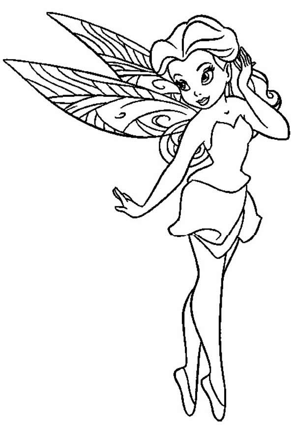 Pretty rosetta pixie coloring page netart for Rosetta coloring pages