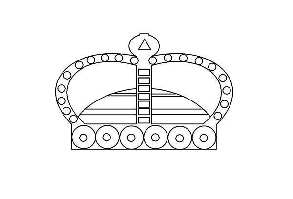 Priceless Princess Crown Coloring Page
