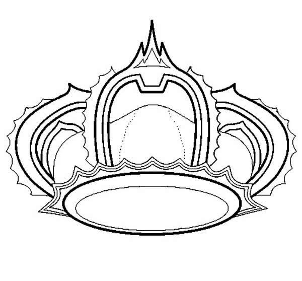 Princess Crown for Princess Wedding Coloring Page NetArt