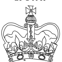 Princess Crown for Royal Family Coloring Page