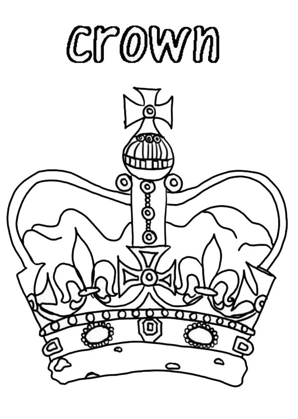Princess Crown for Royal Family Coloring Page NetArt