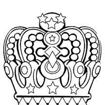 Princess Crown in Noble Family Coloring Page
