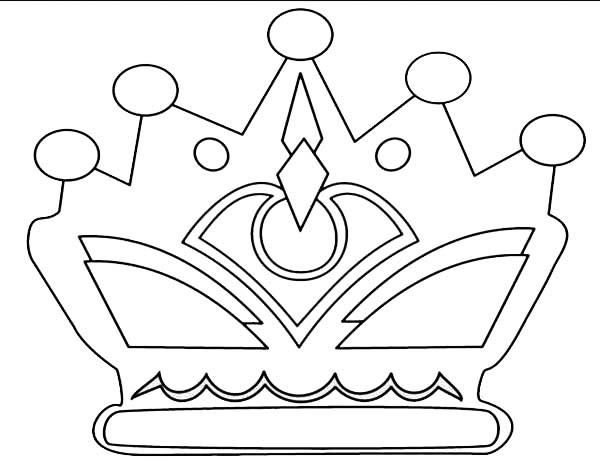 Princess Crown With Jewelry Coloring Page