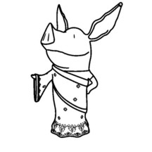 Princess Olivia the Pig Coloring Page