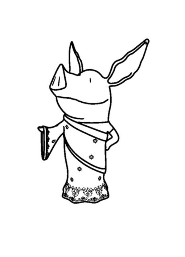 Princess Olivia the Pig Coloring Page  NetArt