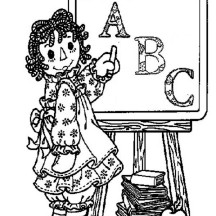 Raggedy Ann Learn to Read in Raggedy Ann and Andy Coloring Page