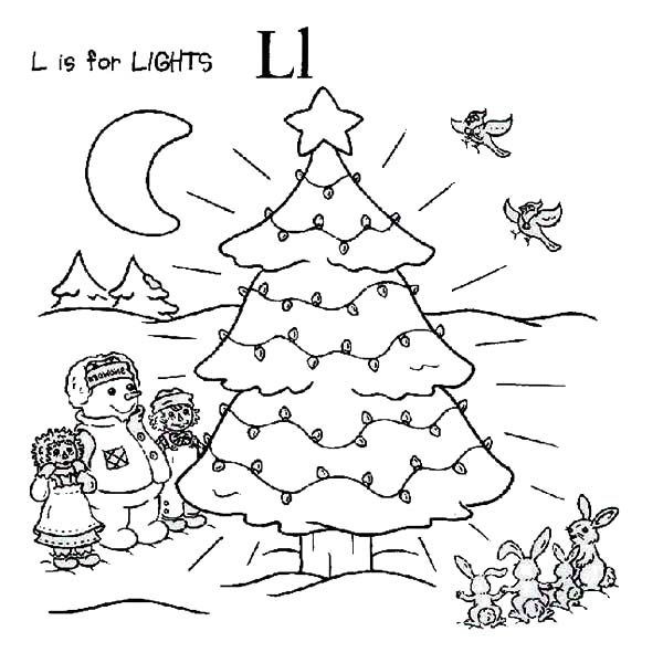 Raggedy ann and andy making christmas tree coloring page for Raggedy ann and andy coloring pages