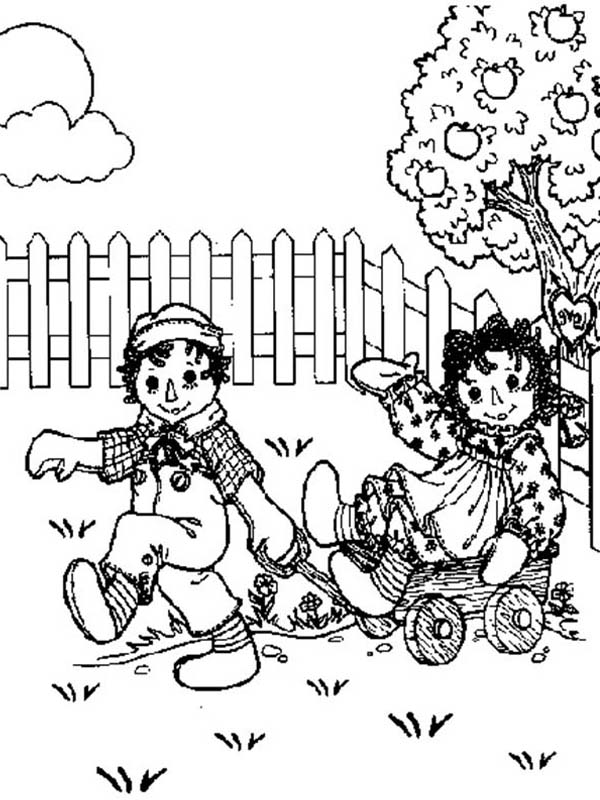 Raggedy ann and andy and happy meadow coloring page netart for Raggedy ann and andy coloring pages