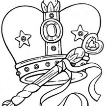 Remarkable Picture of Princess Crown Coloring Page