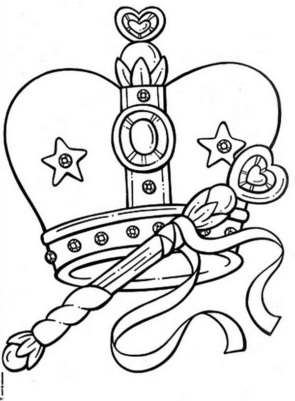 Remarkable Picture of Princess Crown Coloring Page NetArt