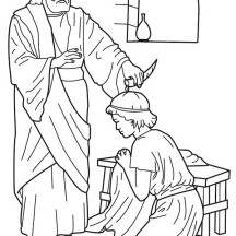 Samuel Anointed Saul as  King Saul Coloring Page