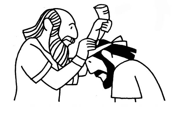 Saul Becomes Israels First King in King Saul Coloring Page