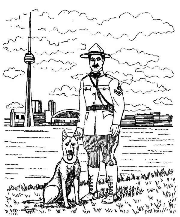 Seattle Police Officer Coloring Page