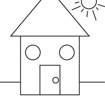 Shapes of House Under the Sun Coloring Page