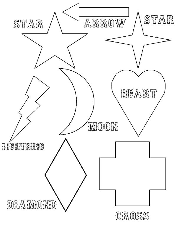 simple shapes of legends coloring page - Simple Shapes