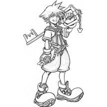 Sora Big Smile Coloring Page