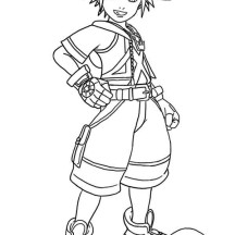 Sora Laughing Coloring Page