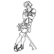 Sora Posing for Photo Coloring Page
