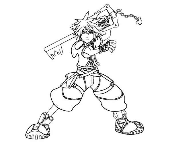 Sora is Keyblade Wielder Coloring Page