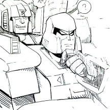 Starscream and Megatron Coloring Page