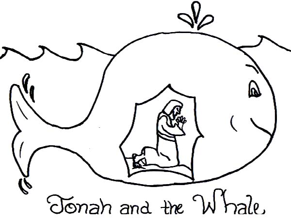 Story Of Jonah And The Whale Coloring Page
