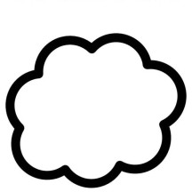 The Clouds is White Coloring Page