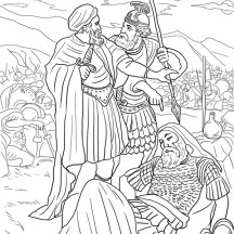 The Death of King Saul Coloring Page