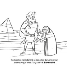 The First King of Israel is King Saul Coloring Page