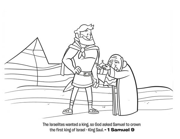 The First King of Israel is King Saul Coloring Page - NetArt