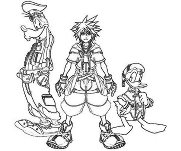 Kingdomhearts Free Colouring Pages