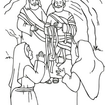 The Sick Amazingly Turn to Health in Miracles of Jesus Coloring Page