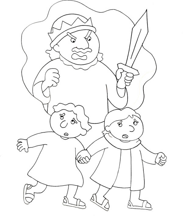 king saul coloring pages - the story of king saul coloring page netart