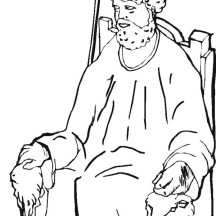 david on the throne coloring pages | King Saul | NetArt