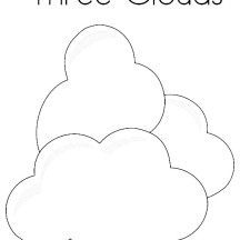 Three Clouds Up in the Sky Coloring Page