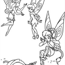 Tinkerbell Breaking a Dipper in Pixie Coloring Page