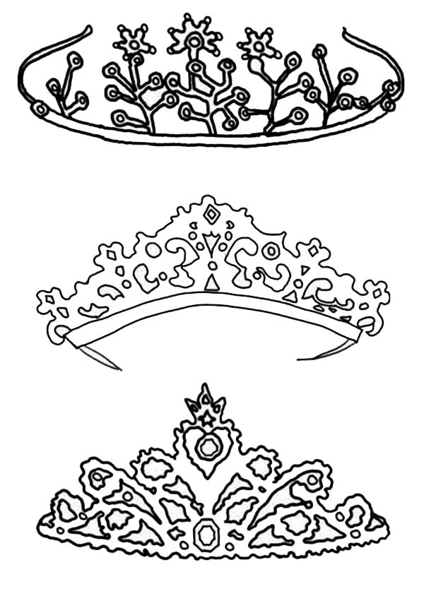 Type of Princess Crown Coloring Page  NetArt