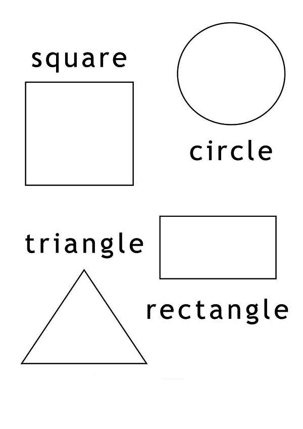 Type of Shapes for Education Coloring Page