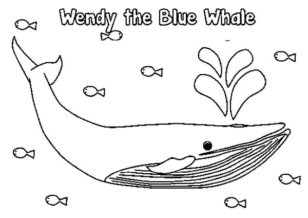 wendy the blue whale coloring page - Whale Coloring Pages