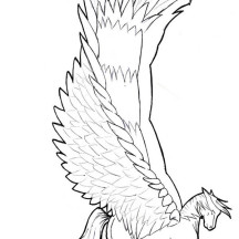 Wide Winged Pegasus Coloring Page